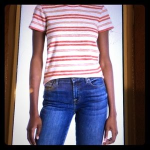 Madewell Striped Knit Shrunken T- Shirt 🎉